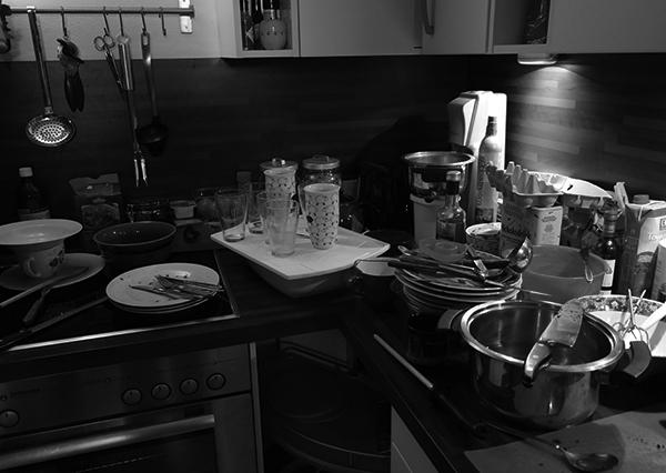 Chaos in de keuken..